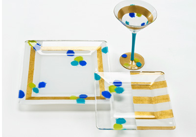 Contemporary Modern Glass Set