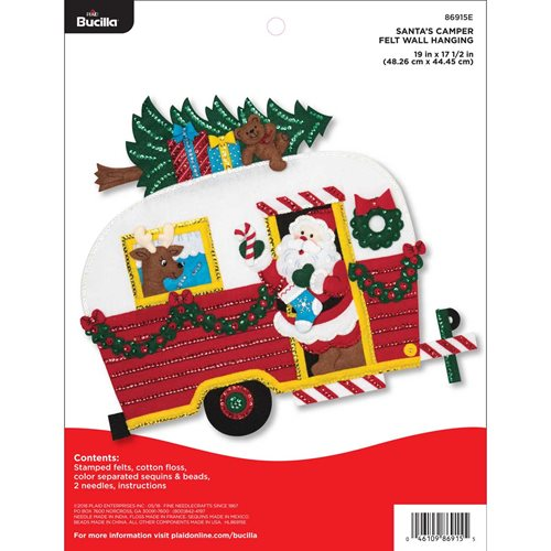 Bucilla ® Seasonal - Felt - Home Decor - Santa's Camper Wall Hanging - 86915E