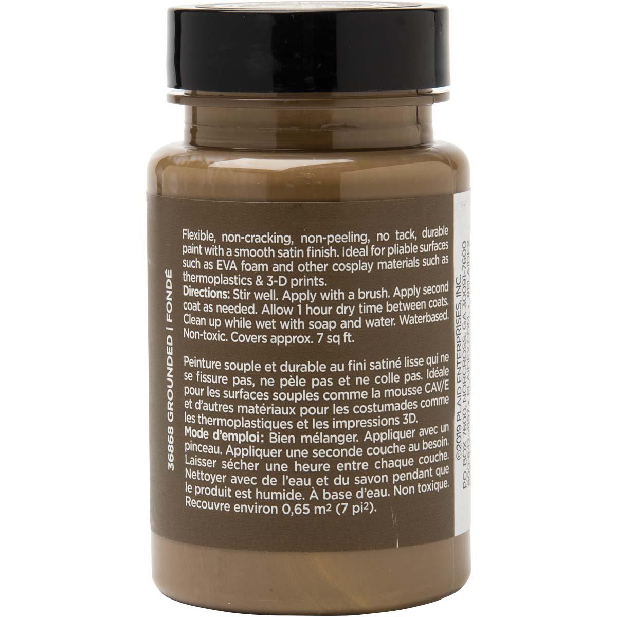 PlaidFX Smooth Satin Flexible Acrylic Paint - Grounded, 3 oz. - 36868