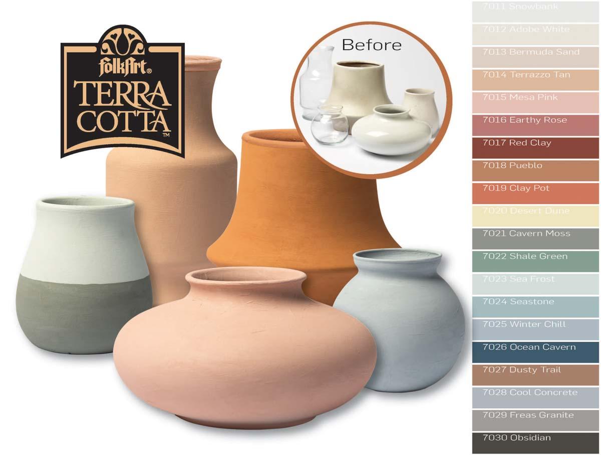 FolkArt ® Terra Cotta™ Acrylic Paint - Mesa Pink, 2 oz. - 7015