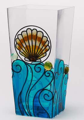 Summer Shell Glass Vase