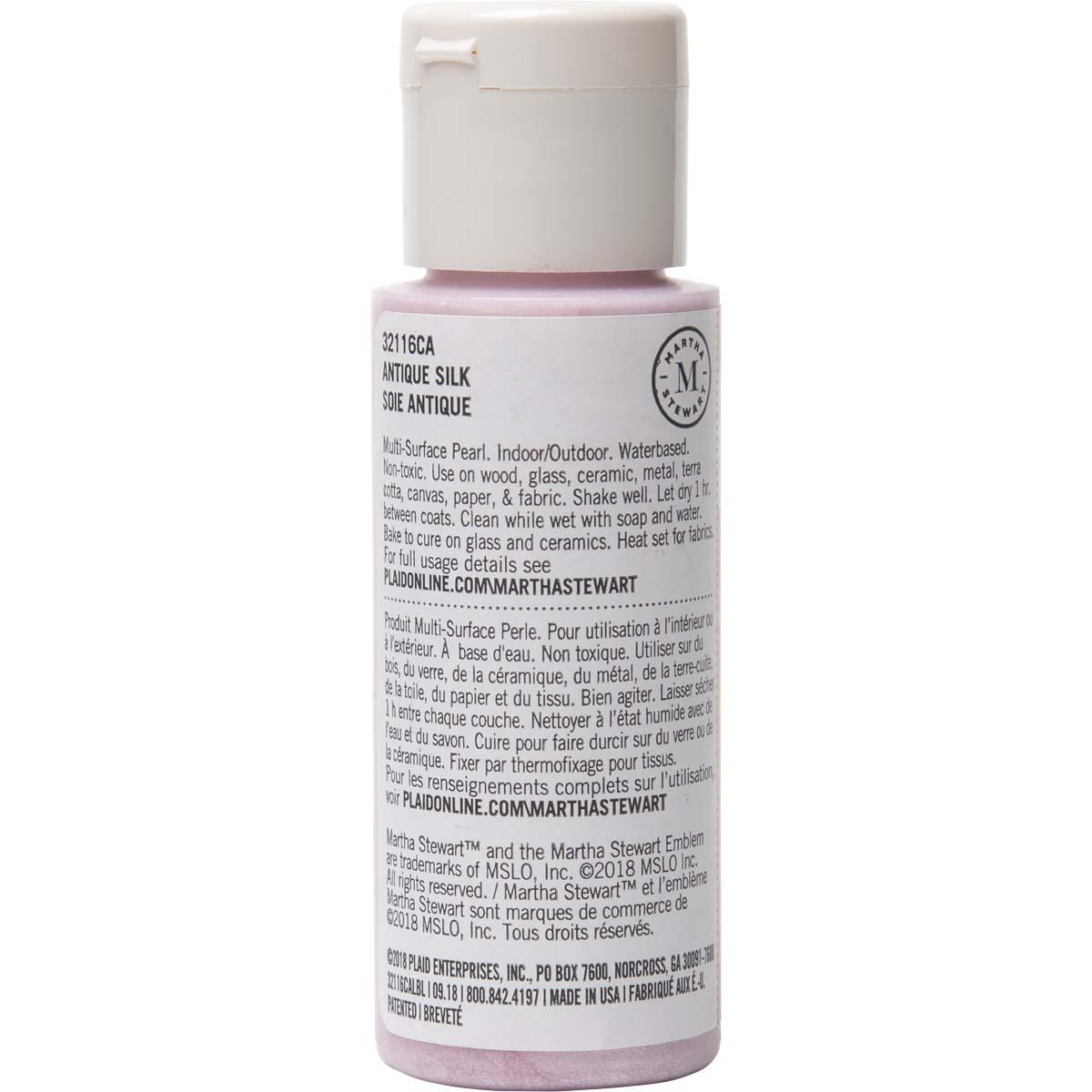 Martha Stewart ® Multi-Surface Pearl Acrylic Craft Paint - Antique Silk, 2 oz. - 32116CA