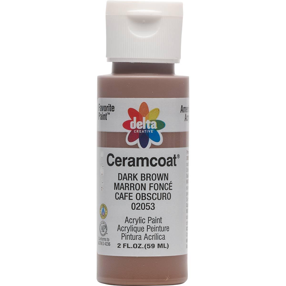 Delta Ceramcoat ® Acrylic Paint - Dark Brown, 2 oz. - 020530202W