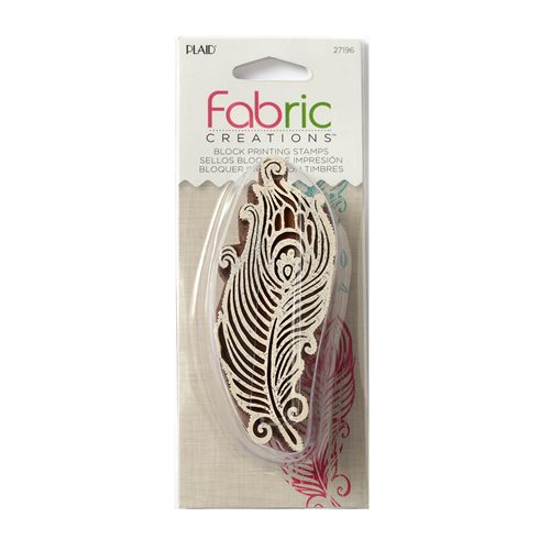 Fabric Creations™ Block Printing Stamps - Border - Feather