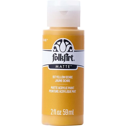 FolkArt ® Acrylic Colors - Yellow Ochre, 2 oz.