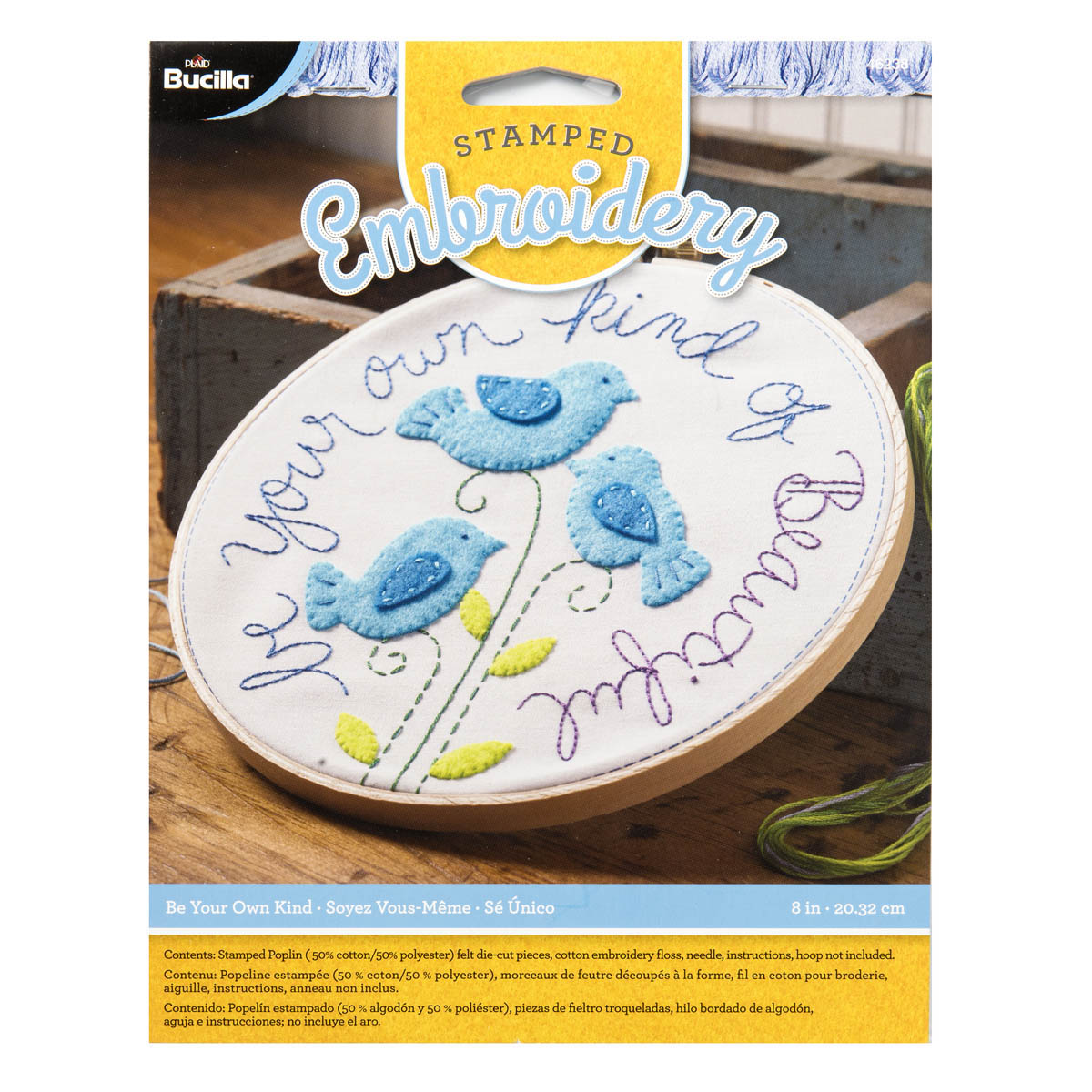 Bucilla ® Stamped Embroidery - Be Your Own Kind