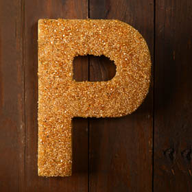 Faux Beaded Letter with Mod Podge