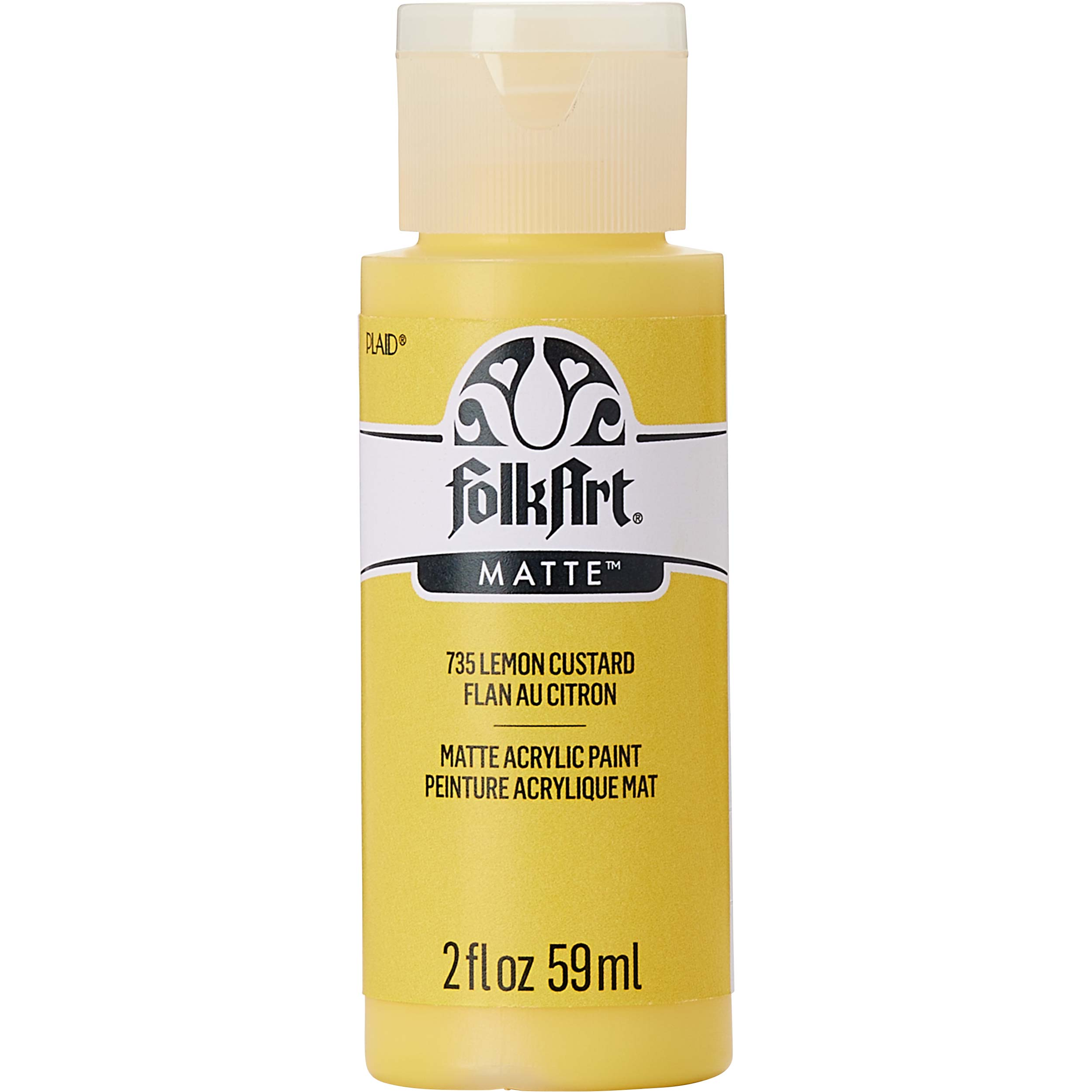 FolkArt ® Acrylic Colors - Lemon Custard, 2 oz. - 735