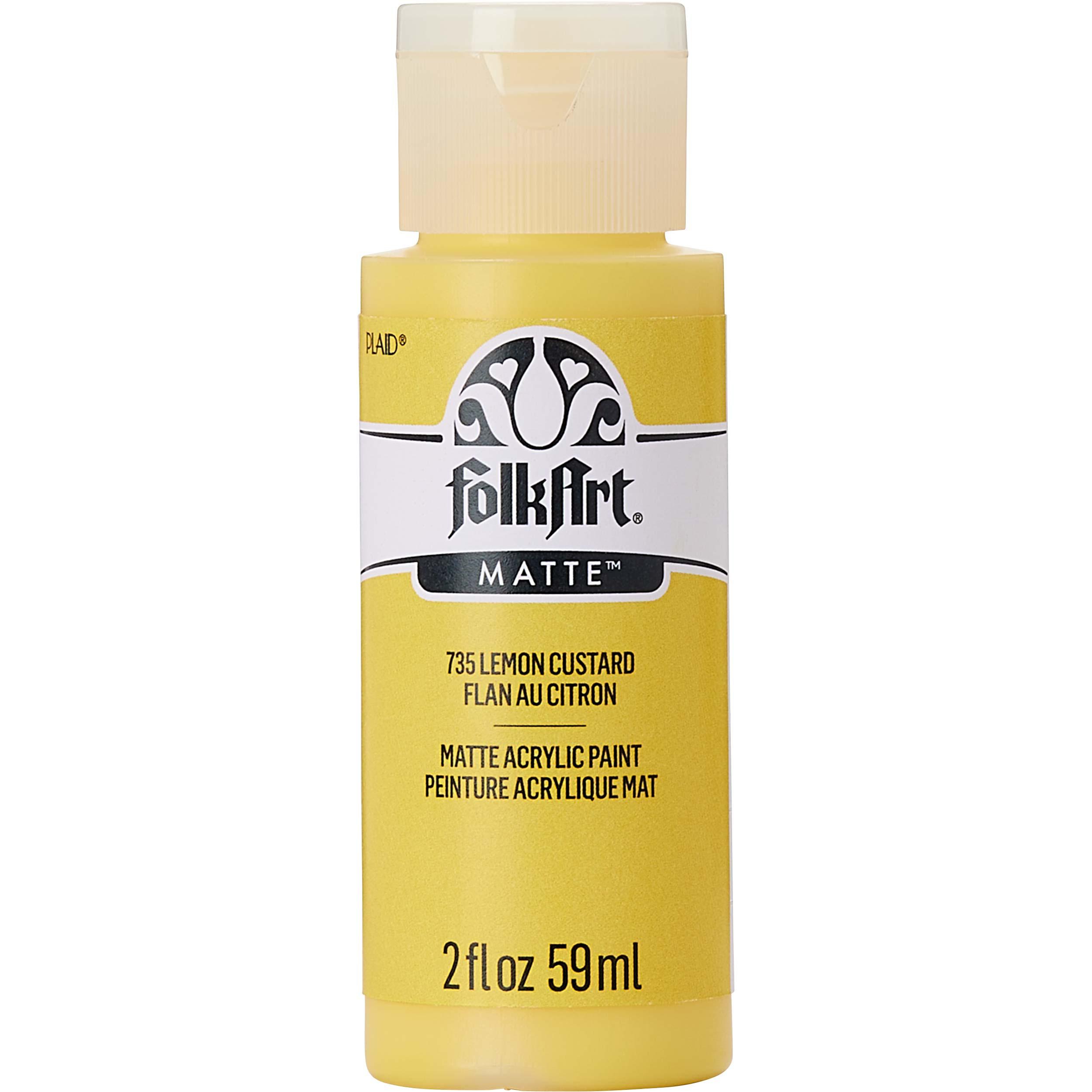 FolkArt ® Acrylic Colors - Lemon Custard, 2 oz. - 735