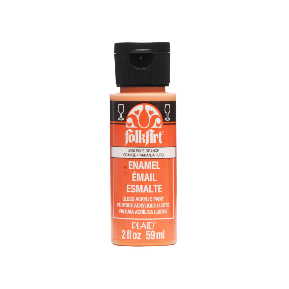 FolkArt ® Enamels™ - Pure Orange, 2 oz. - 4008