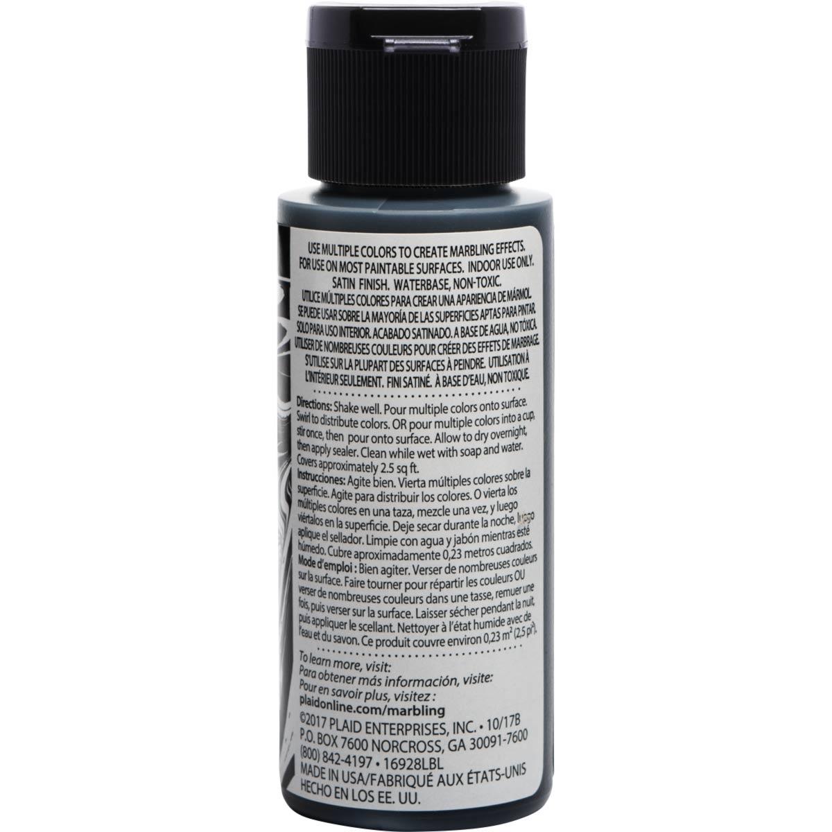 FolkArt ® Marbling Paint - Black, 2 oz. - 16928