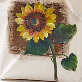 Sunflower Painted Tote Bag