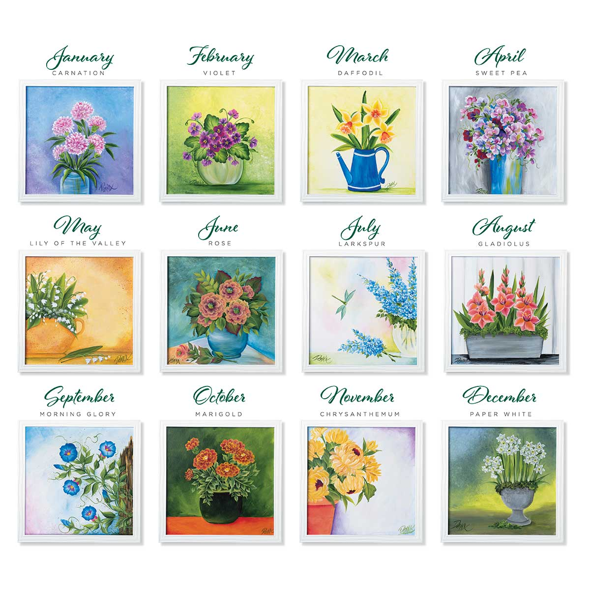 Let's Paint with FolkArt ® One Stroke™ Kit - Flower of the Month