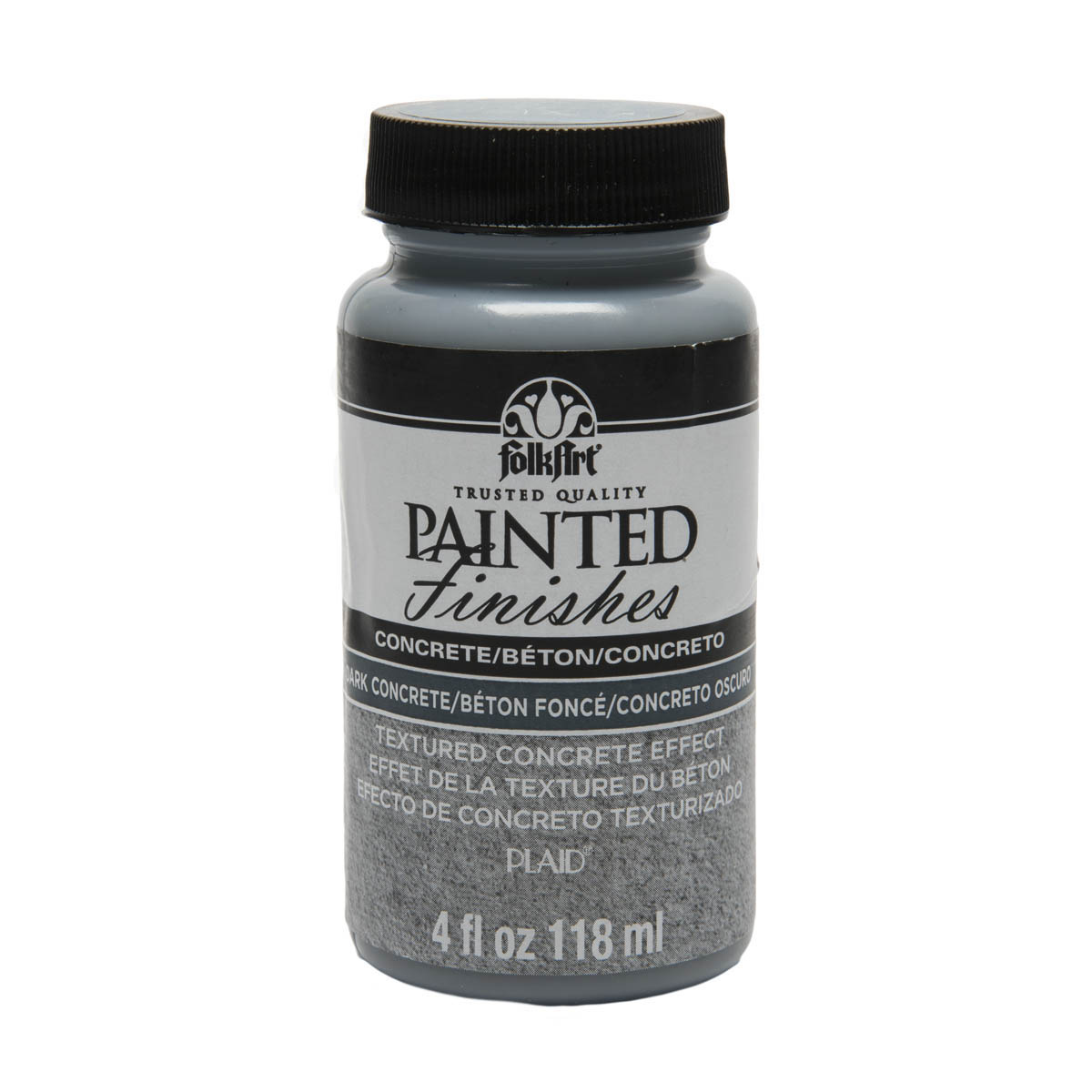 FolkArt ® Painted Finishes - Dark Concrete, 4 oz.