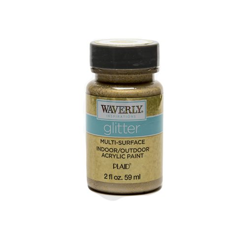 Waverly ® Inspirations Glitter Multi-Surface Acrylic Paint - Gold, 2 oz.