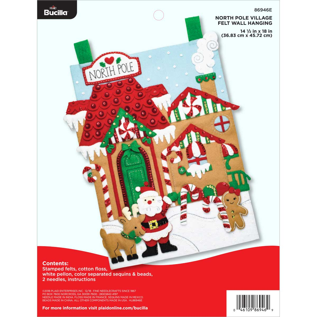 Bucilla ® Seasonal - Felt - Home Decor - North Pole Village Wall Hanging