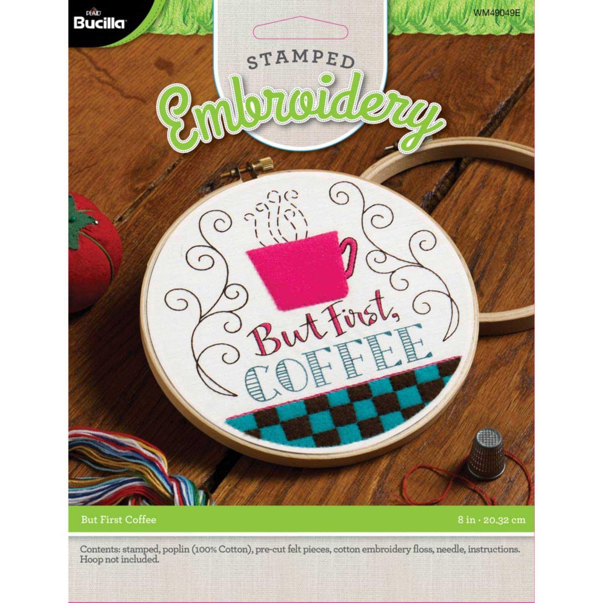 Bucilla ® My 1st Stitch™ - Stamped Cross Stitch Kits - But First Coffee