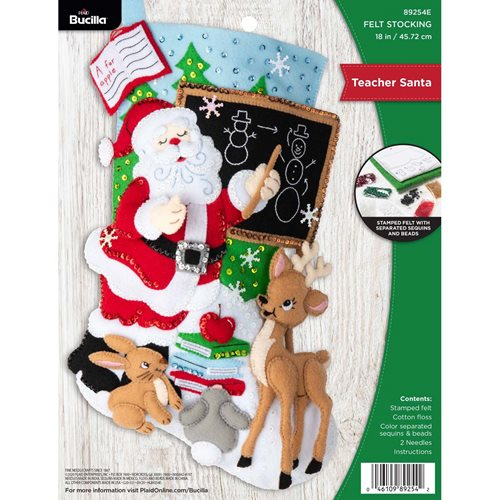 Bucilla ® Seasonal - Felt - Stocking Kits - Teacher Santa - 89254E