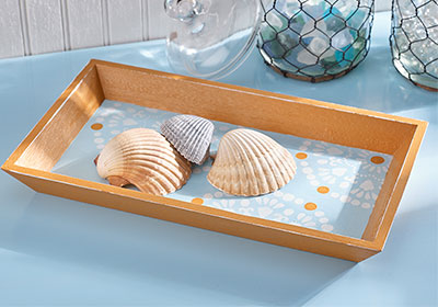 Painted Rectangle Tray