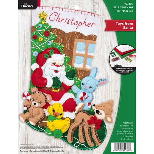 Bucilla ® Seasonal - Felt - Stocking Kits - Toys From Santa - 89229E