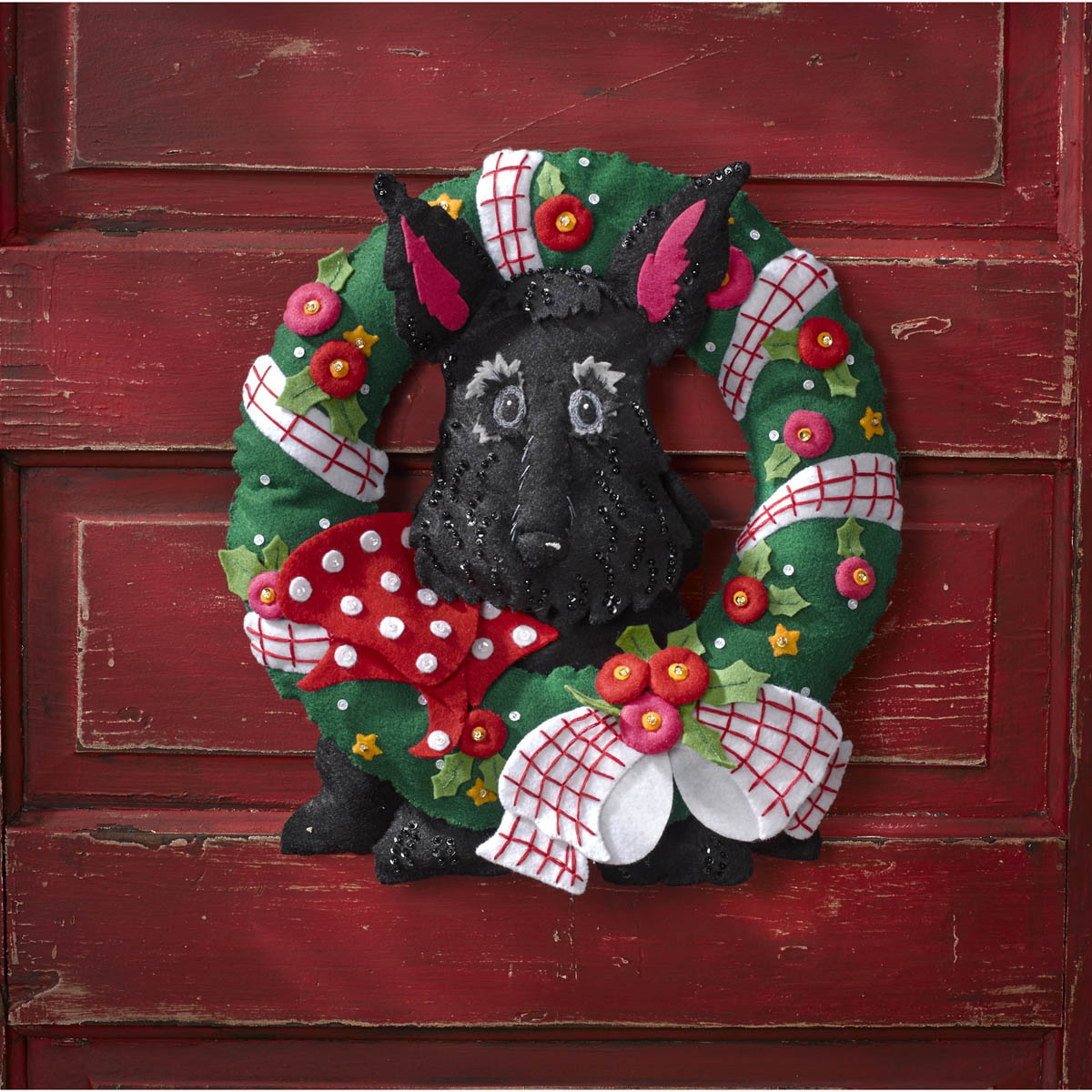Bucilla ® Seasonal - Felt - Home Decor - Mary Engelbreit ® - Scottie Wreath