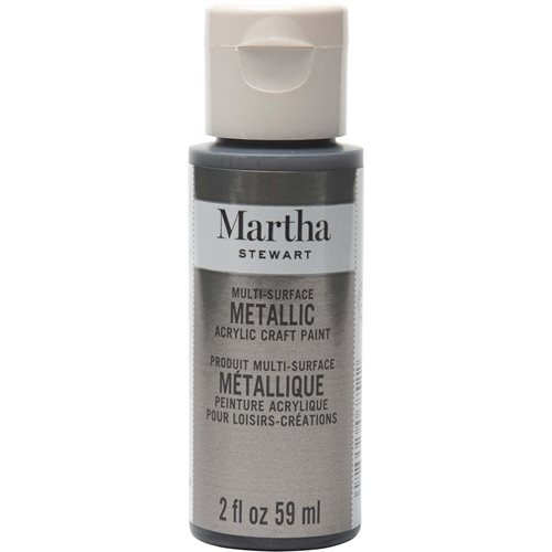 Martha Stewart ® Multi-Surface Metallic Acrylic Craft Paint - Brushed Pewter, 2 oz. - 32991CA