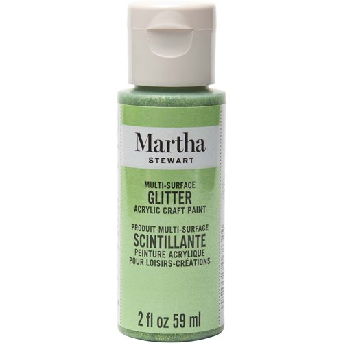 Martha Stewart ® Multi-Surface Glitter Acrylic Craft Paint - Peridot, 2 oz. - 32160CA