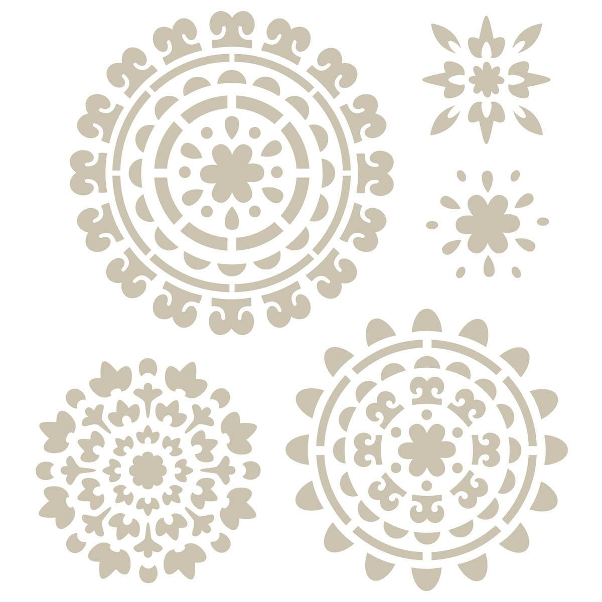 FolkArt ® Handmade Charlotte™ Stencils - Suzani Spendor