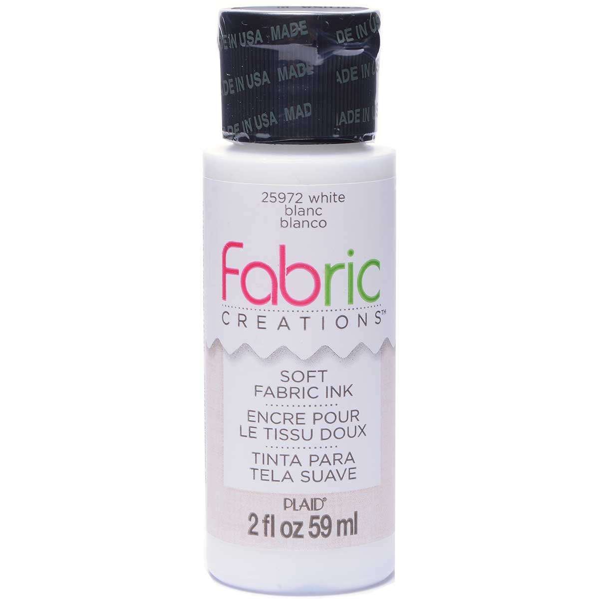 Fabric Creations™ Soft Fabric Inks - White, 2 oz. - 25972