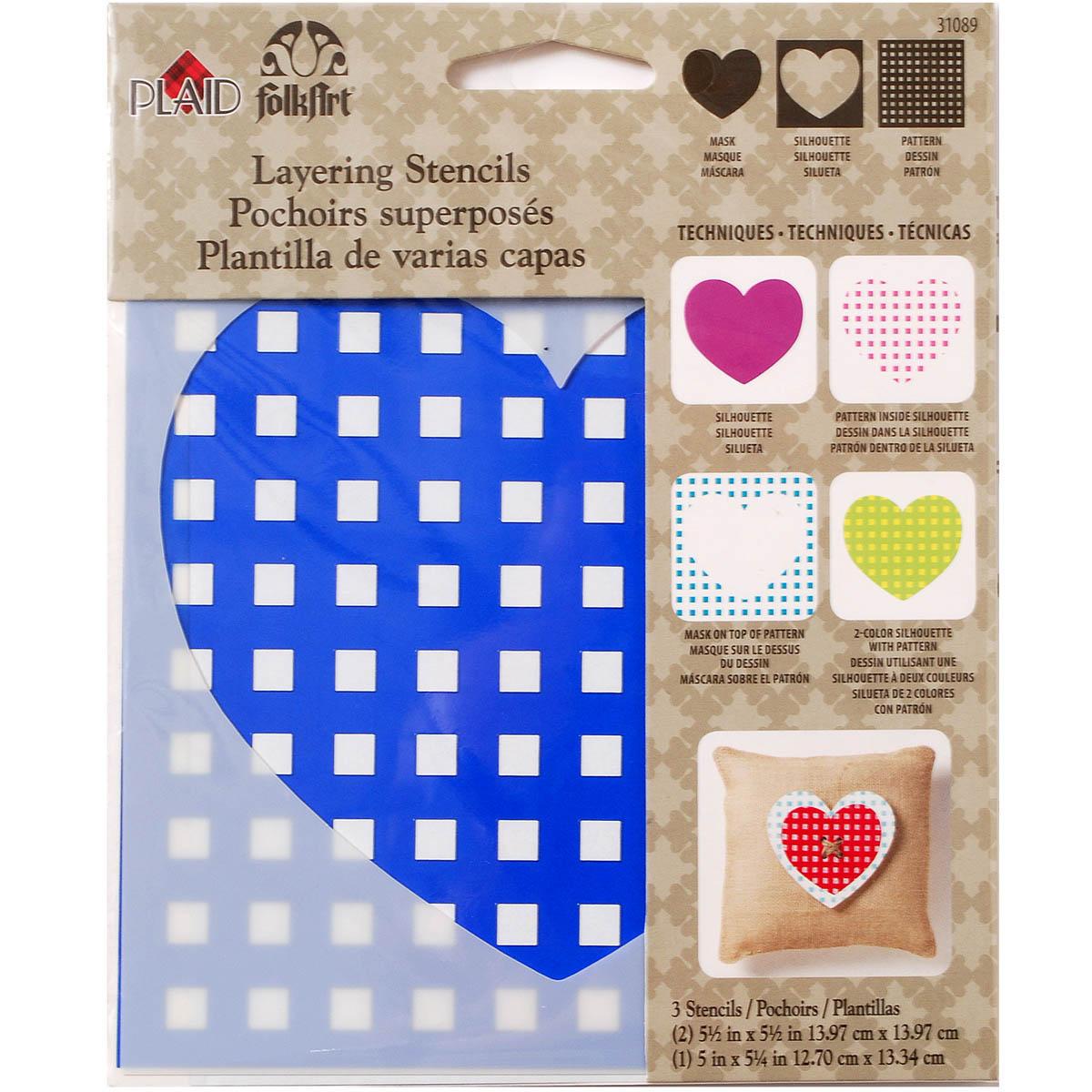 FolkArt ® Layering Stencils - Heart