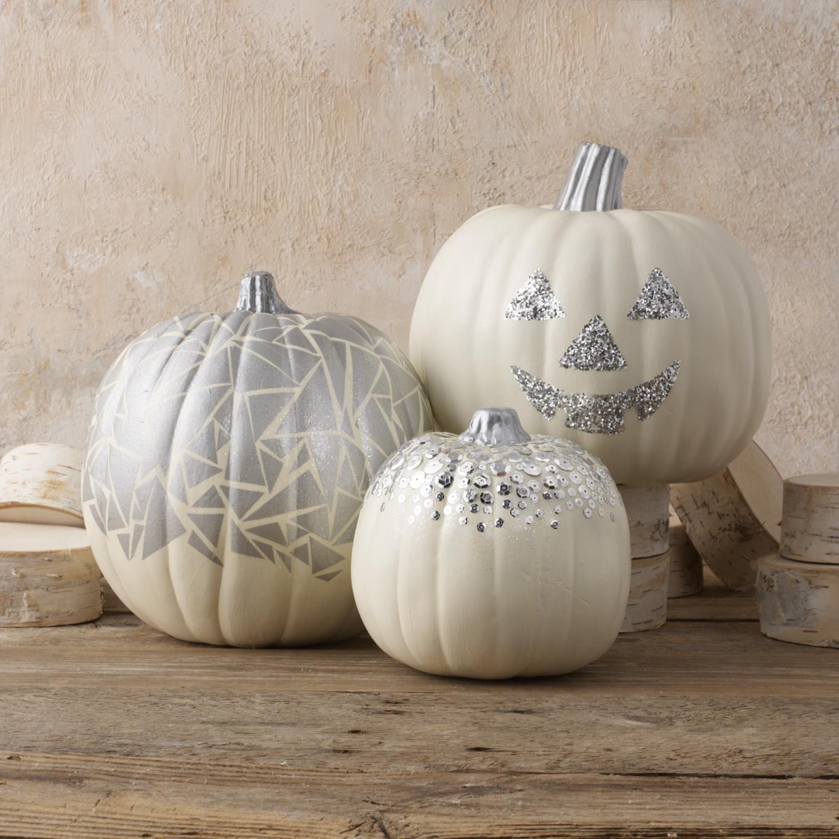 Sparkly Geometric Pumpkin