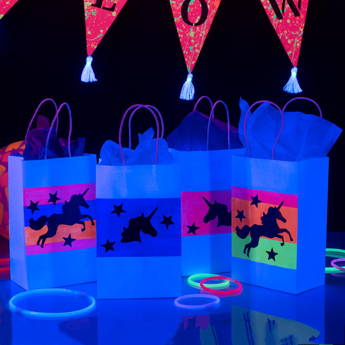 Glow-in-the-Dark Gift Bags