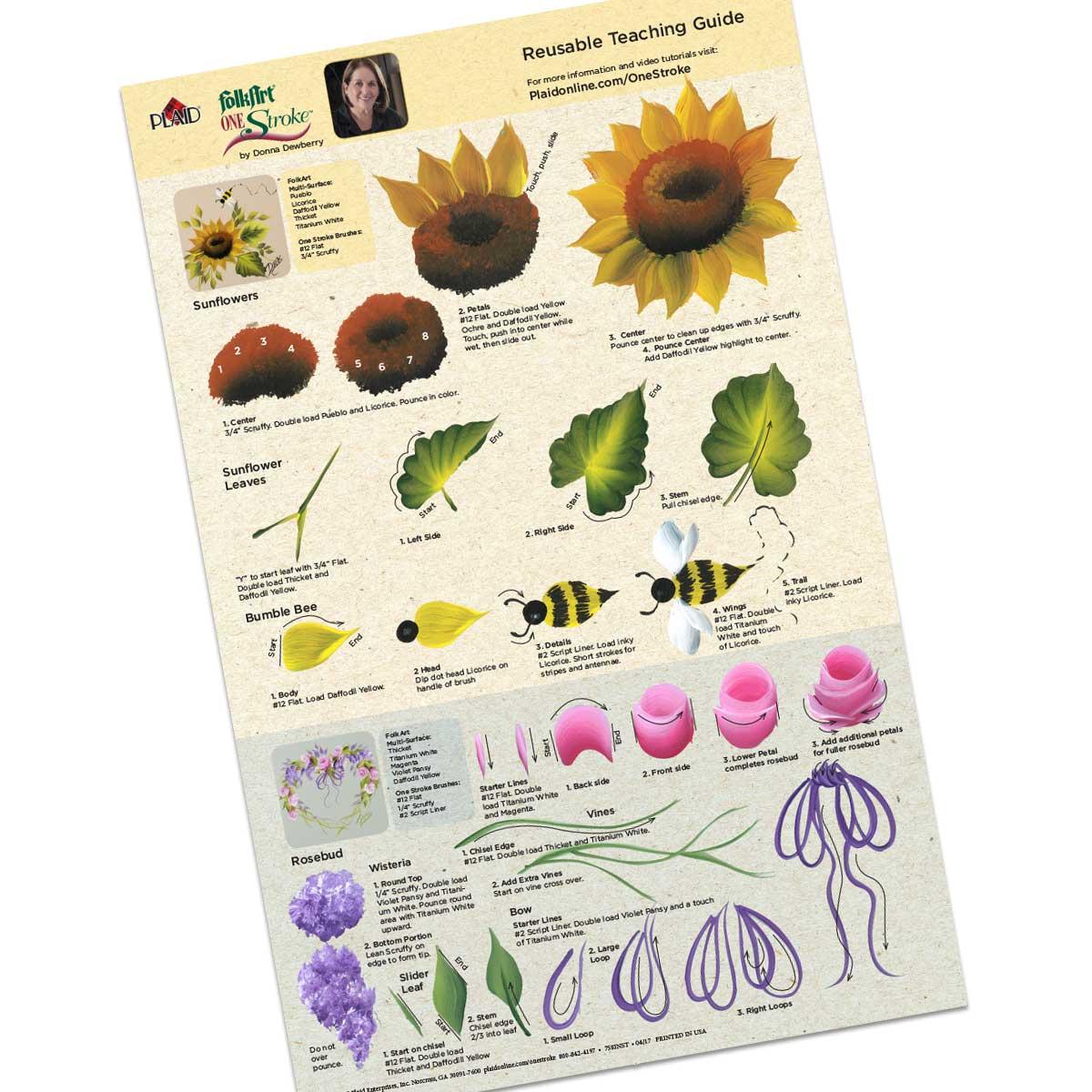 FolkArt ® One Stroke™ Beginner Kit by Donna Dewberry - AD758