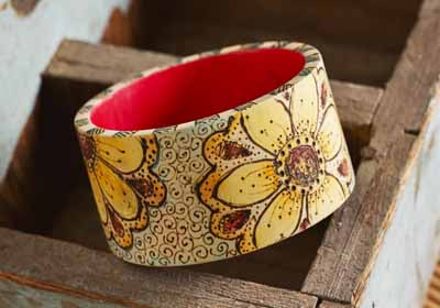 Daisy Wood Bangle