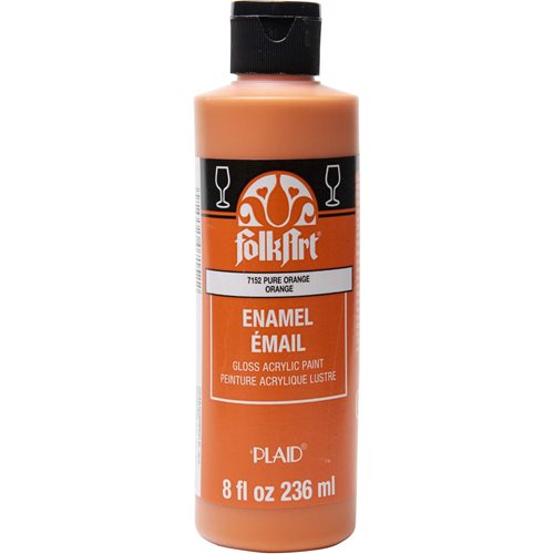 FolkArt ® Enamels™ - Pure Orange, 8 oz. - 7152