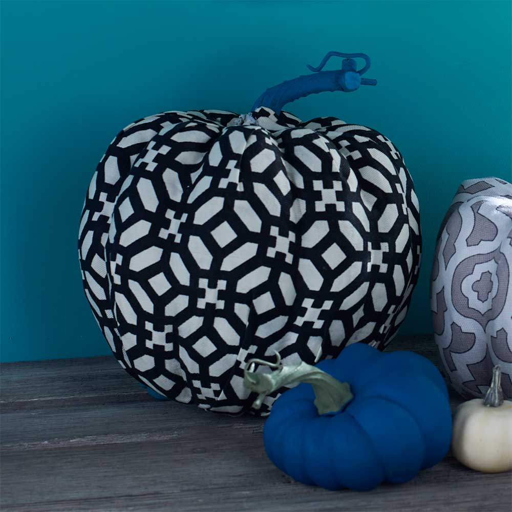 Waverly Fabric Covered Pumpkins