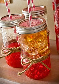 Mod Podge Canning Jar Valentine Drinking Glasses
