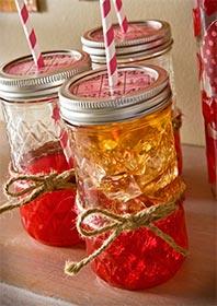 Mod Podge Canning Jar Valentine Drinking Glasses