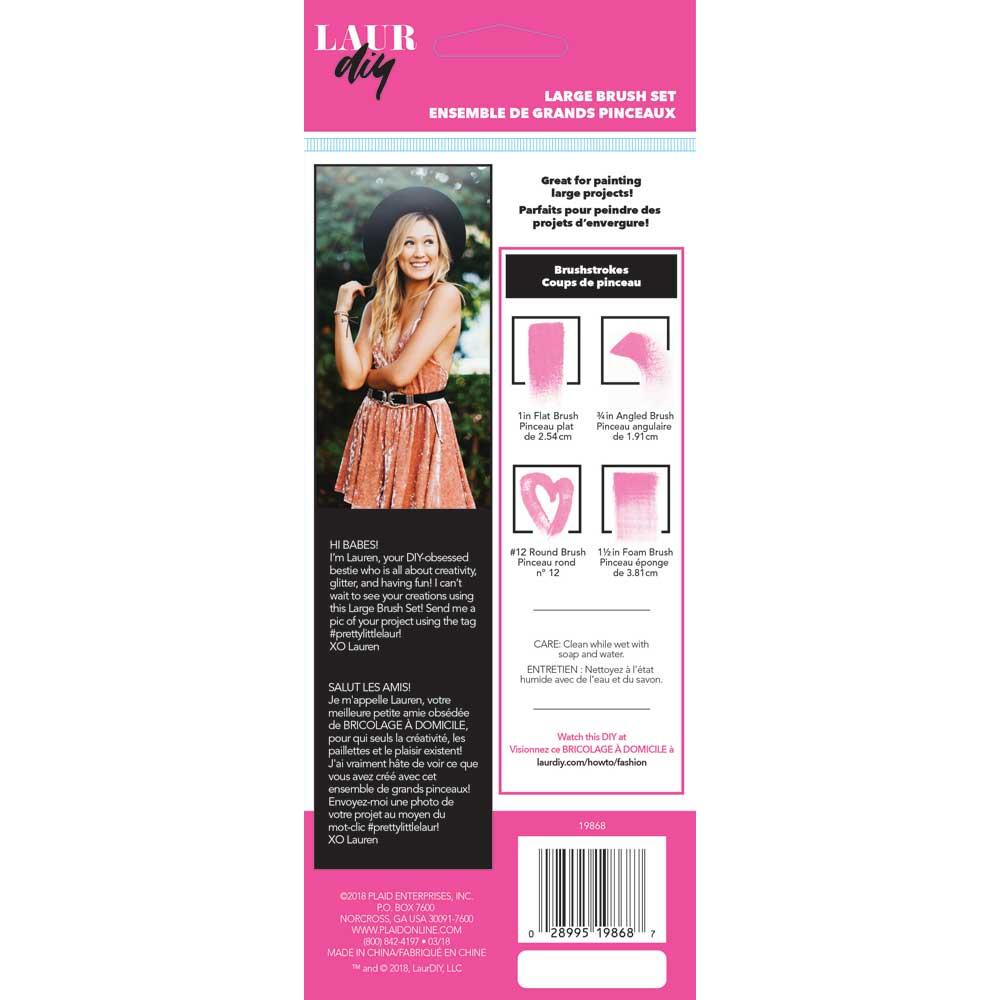 LaurDIY ® Brush Set - Large, 4 pc. - 19868