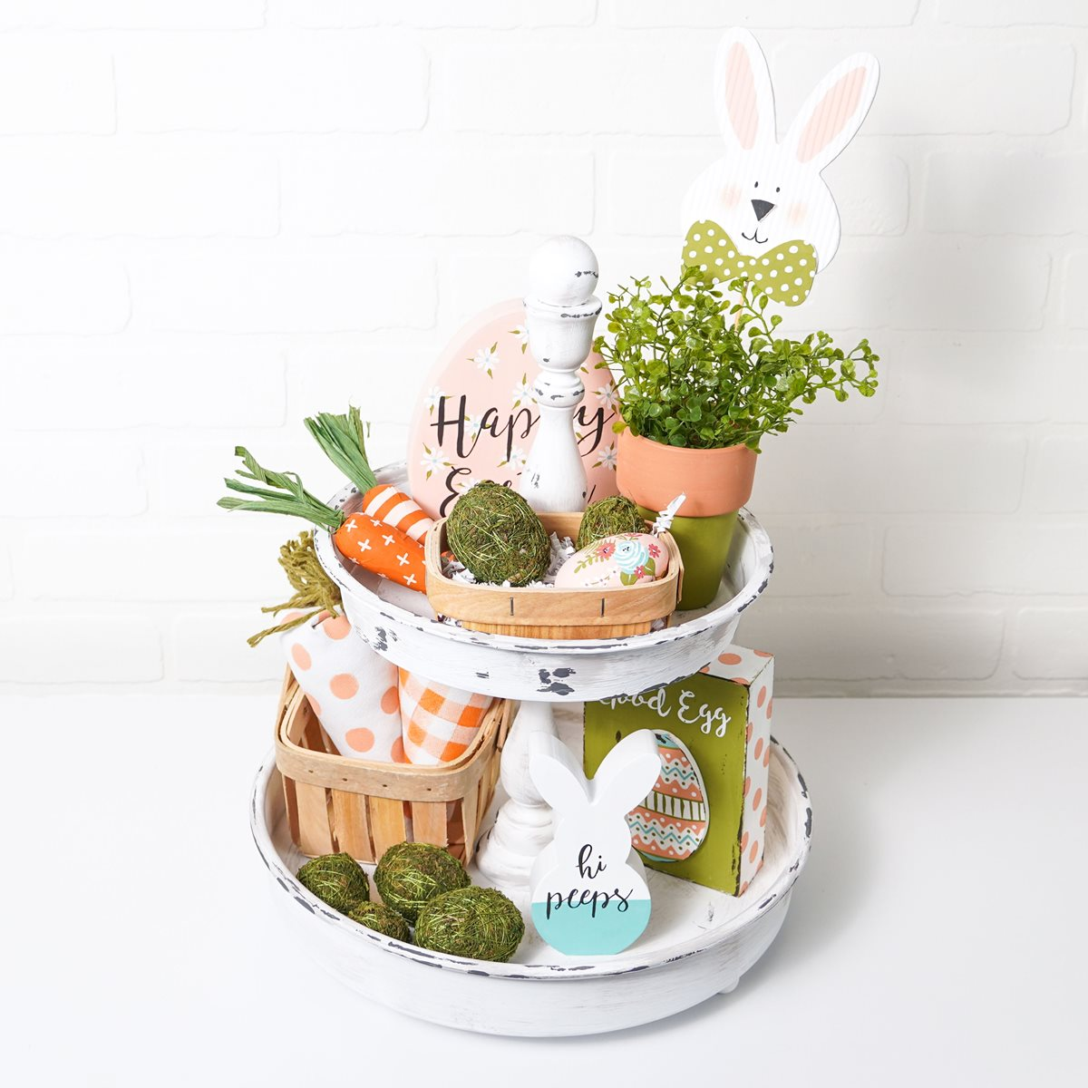 Spring Two Tiered Tray