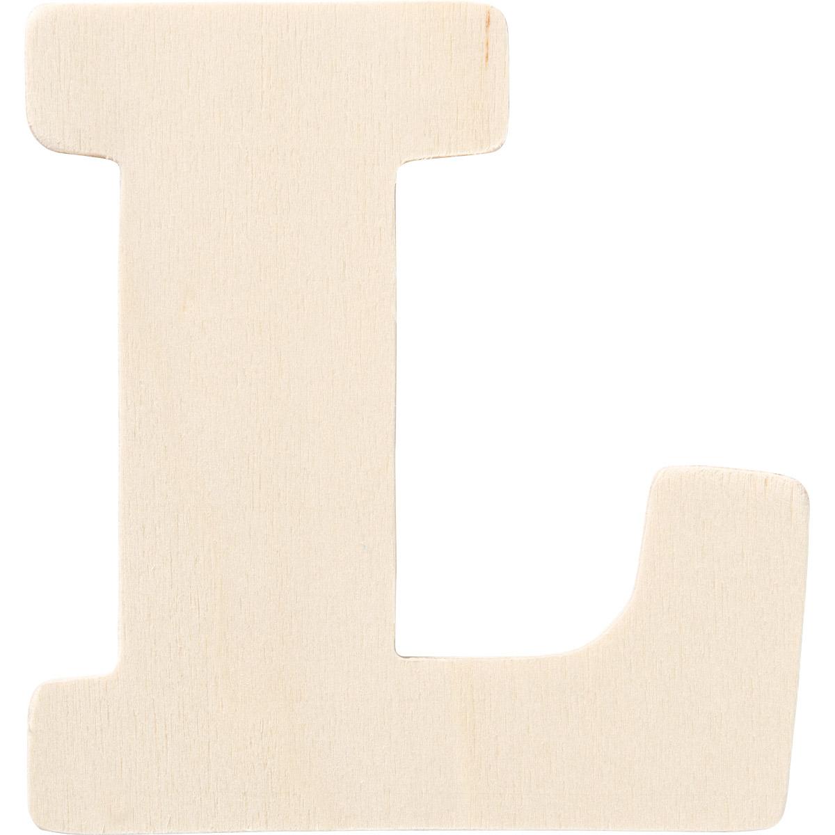 Plaid ® Painter's Palette™ Wood Letter - L. 4 inch