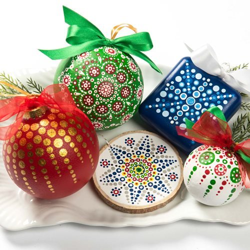 Mandala Christmas Ornaments