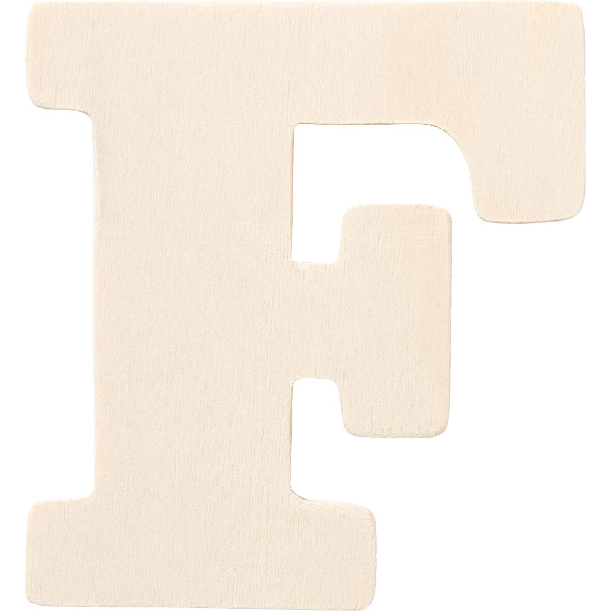 Plaid ® Painter's Palette™ Wood Letter - F. 4 inch