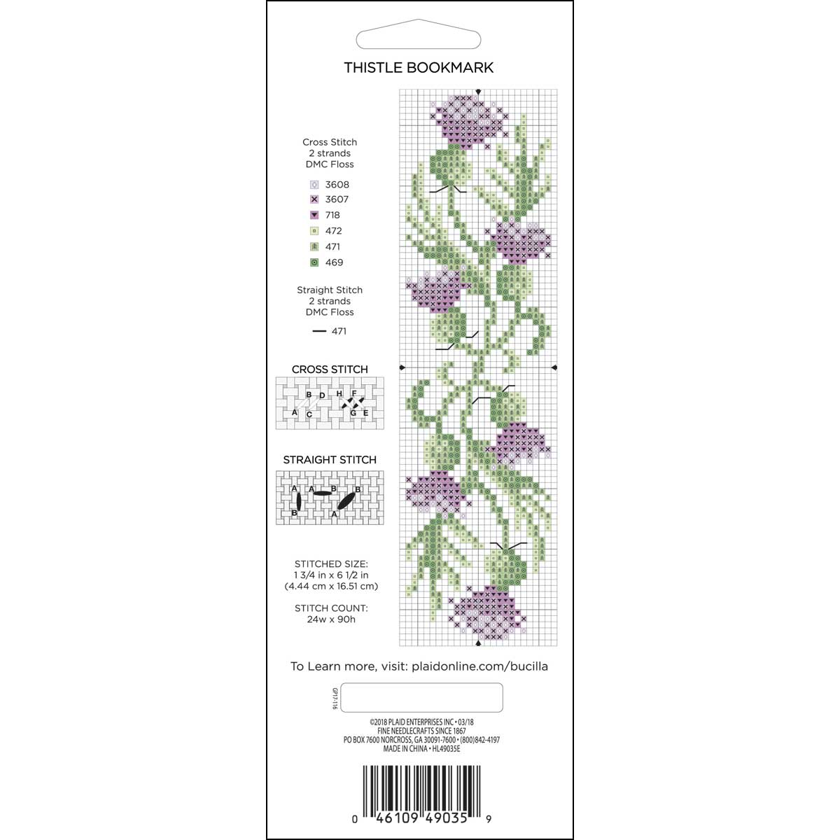 Bucilla ® Ready to Stitch™ Blanks - Lace Edge Bookmark, 1-3/4