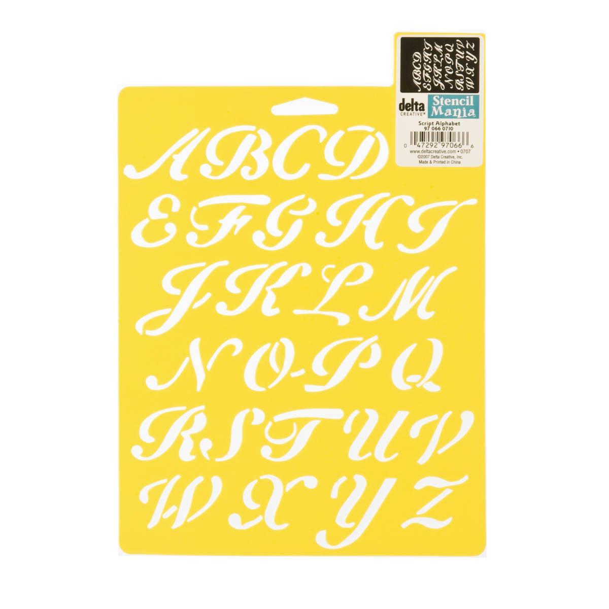 Delta Stencil Mania™ - Alphabet - Script