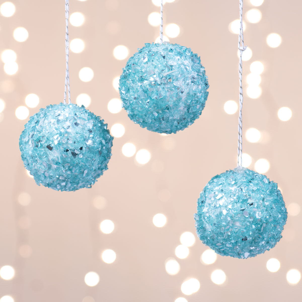 Crushed Glass Ornaments
