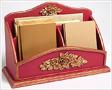 Golden Trim Desk Organizer