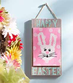 Happy Easter Handprint Sign