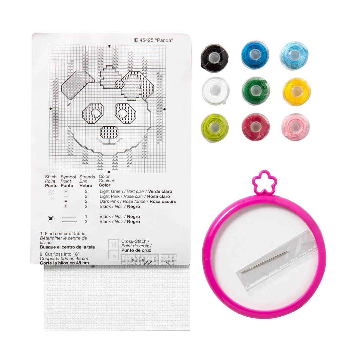 Bucilla Mini Counted Cross Stitch Kit 45425 Panda