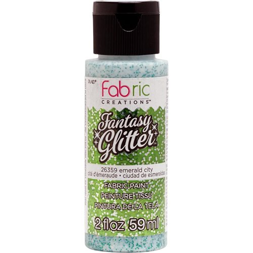 Fabric Creations™ Fantasy Glitter™ Fabric Paint - Emerald City, 2 oz.